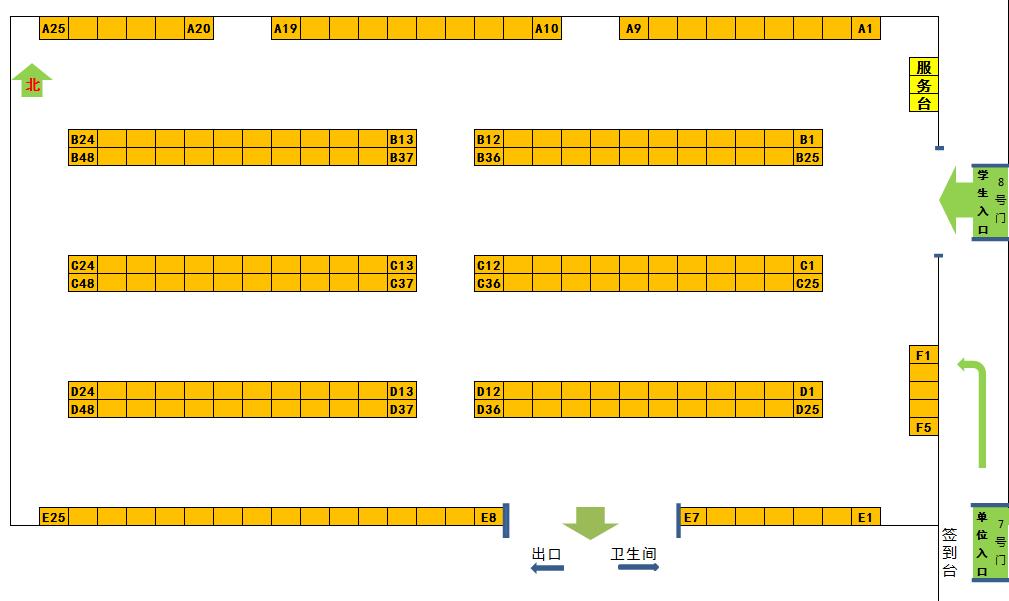 时间:2015年11月26日 9:00-13:00 地点:北京科技大学体育馆 注意事项: 1、本校学生开放时间:9:00(体育馆东门8号门入场) 外校学生开放时间:11:00 2、请同学们务必携带校园卡、学生证、简历参会; 3、请同学们有序排队、秩序离场,听从现场工作人员安排; 4、严禁携带易燃易爆等危险品入场、禁止带包入场; 5、请同学们按规定时间错峰入场; 6、请同学们添衣防寒,注意保暖! 参会指南: 1、下载单位招聘信息汇总,了解用人单位招聘需求; 2、查看双选会展位安排表,查询意向单位展位号
