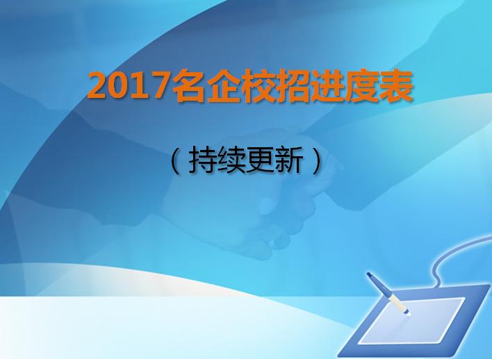 2017届名企校招进度表